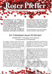 Roter Pfeffer Ausgabe 1/2019 Seite 1